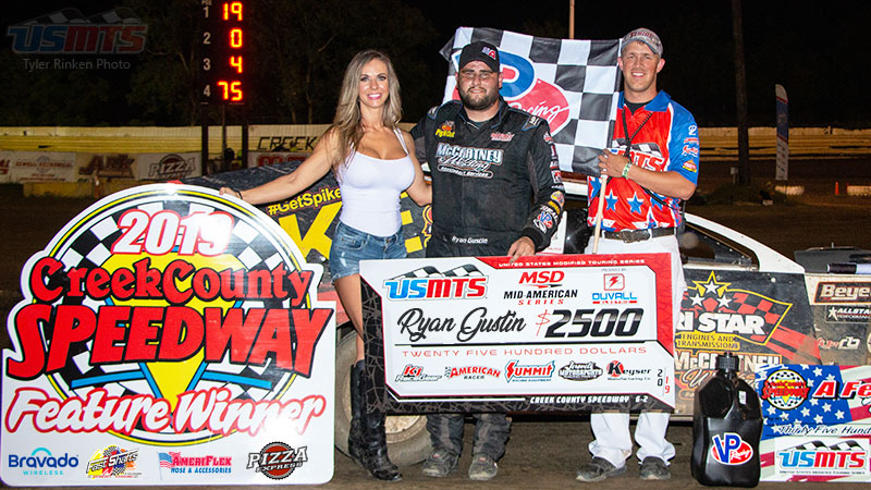 Gustin grinds out USMTS victory at Creek County Speedway