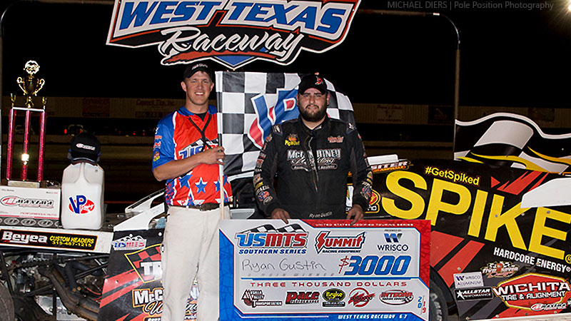 Gustin rolls to third straight USMTS win at West Texas Raceway